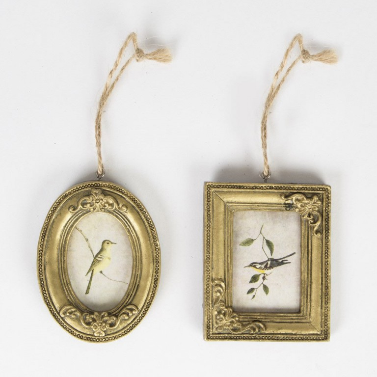 vintage look mini gold frames pair - Mini Gold Frames