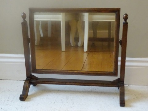 Antique Gilded Triple Dressing Table Mirror - Antique oak dressing table